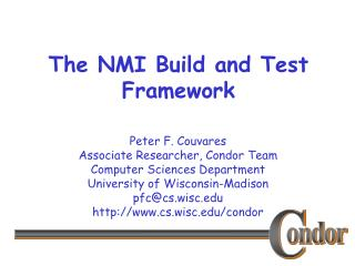 The NMI Build and Test Framework