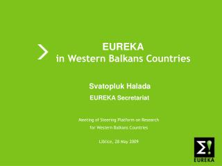 EUREKA in Western Balkans Countries