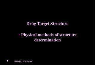 Drug Target Structure