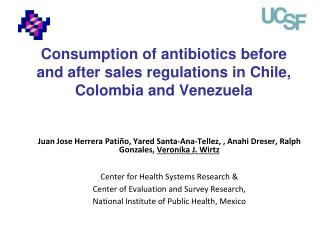 Consumption of antibiotics before and after sales regulations in Chile, Colombia and Venezuela