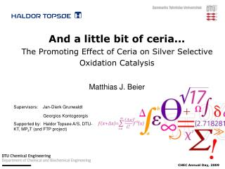 And a little bit of ceria... The Promoting Effect of Ceria on Silver Selective Oxidation Catalysis