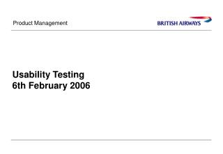 Usability Testing 6th February 2006