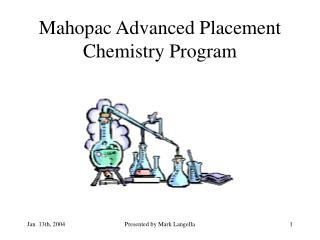 Mahopac Advanced Placement Chemistry Program