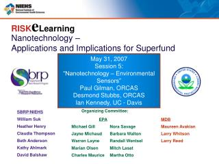 Nanotechnology –  Applications and Implications for Superfund