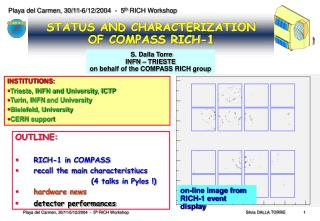STATUS AND CHARACTERIZATION  OF COMPASS RICH-1