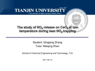 The study of NO X  release on CeO 2  at low temperature during lean NO X  trapping