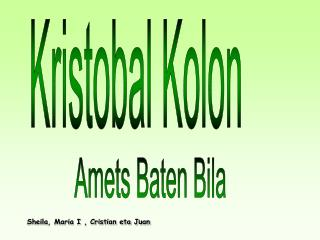 Kristobal Kolon