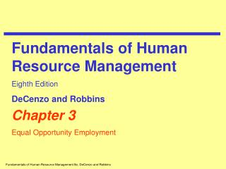 Chapter 3 Equal Opportunity Employment