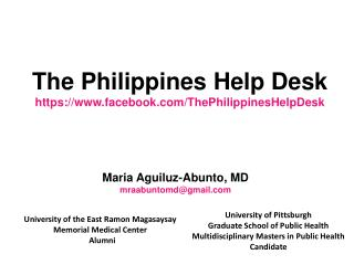 The Philippines Help Desk https://facebook/ThePhilippinesHelpDesk