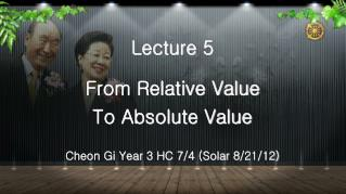 Lecture 5 From Relative Value  To Absolute Value