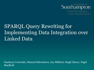SPARQL Query Rewriting for Implementing Data Integration over Linked Data