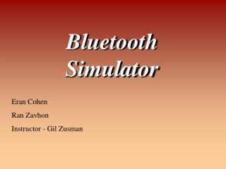 Bluetooth Simulator
