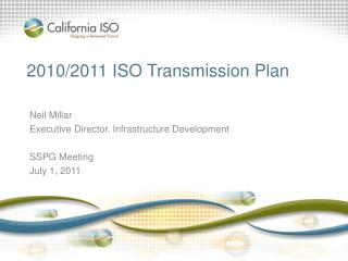 2010/2011 ISO Transmission Plan