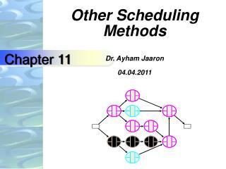 Other Scheduling Methods Dr. Ayham Jaaron 04.04.2011