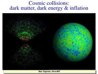 Cosmic collisions:  dark matter, dark energy & inflation