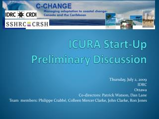 ICURA Start-Up Preliminary Discussion