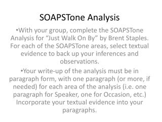 SOAPSTone  Analysis