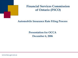 Financial Services Commission of Ontario (FSCO)