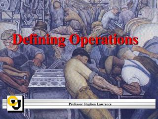 Defining Operations