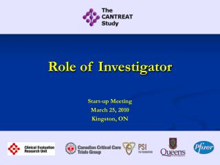 Role of Investigator