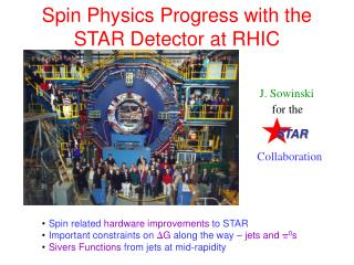 Spin Physics Progress with the  STAR Detector at RHIC