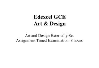 Edexcel GCE Art & Design