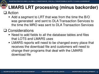 LMARS LRT processing (minus backorder)