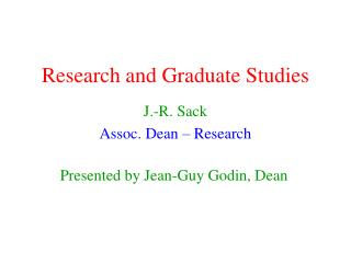 Research and Graduate Studies