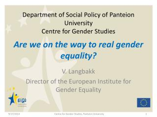 Department of Social Policy of Panteion University Centre for Gender Studies