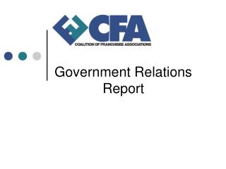 Government Relations Report