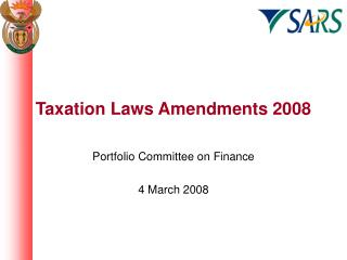 Taxation Laws Amendments 2008
