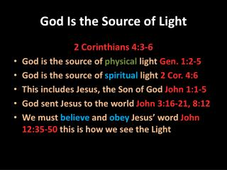 God Is the Source of Light