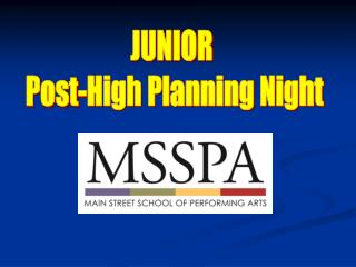 JUNIOR  Post-High Planning Night