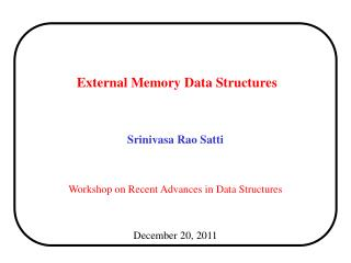 External Memory Data Structures