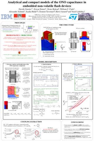 Analytical and compact models of the ONO capacitance in embedded non-volatile flash devices