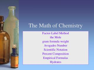 The Math of Chemistry
