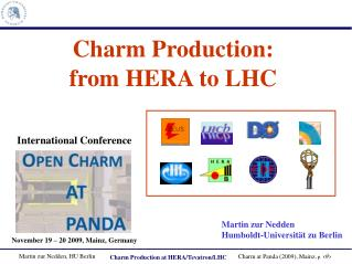 Charm Production: from HERA to LHC