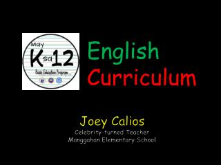 Joey  Calios Celebrity-turned Teacher Manggahan  Elementary School