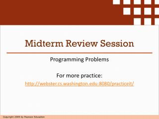 Midterm Review Session
