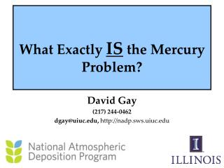 What Exactly  IS  the Mercury Problem?