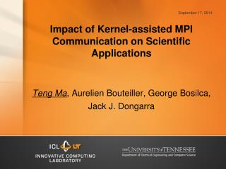 Impact of Kernel-assisted MPI Communication on Scientific Applications