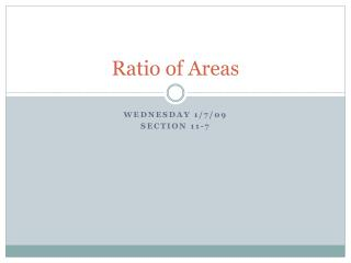 Ratio of Areas
