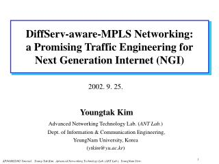 DiffServ-aware-MPLS Networking: a Promising Traffic Engineering for Next Generation Internet (NGI)