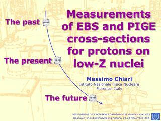 Measurements of EBS and PIGE cross-sections for protons on low-Z nuclei