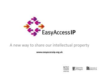 A new way to share our intellectual property easyaccessip.uk