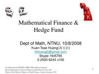 Mathematical Finance & Hedge Fund