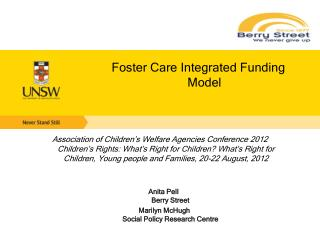 Foster Care Integrated Funding Model