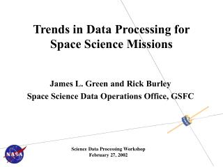 Trends in Data Processing for Space Science Missions