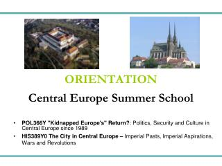 ORIENTATION Central Europe Summer School