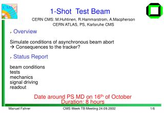 1-Shot  Test Beam